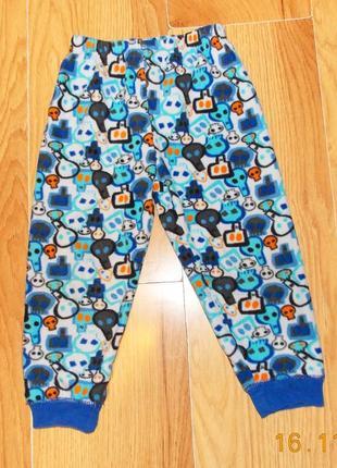 Фирменные флисовые брюки для мальчика 3-4 года, 98-104 см