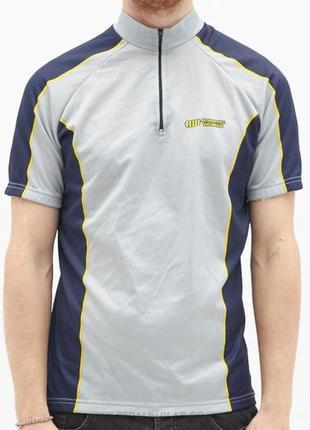 Мужская вело футболка майка для велосипеда спорта с карманами