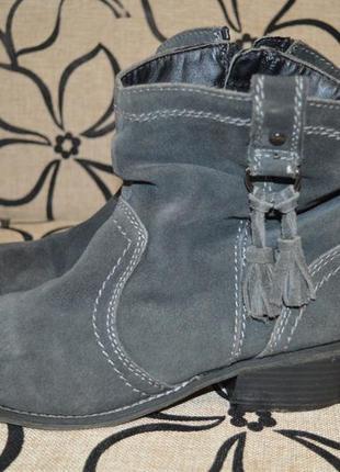 Ботинки полусапожки marco tozzi кожа разм 39  германия