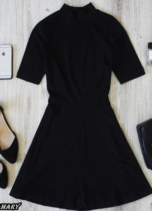 Базовое чёрное коттоновое платье gina tricot