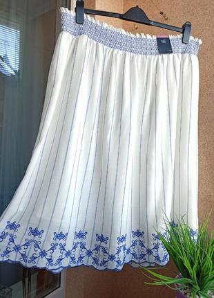 Красивейшая летняя юбка с вышивкой