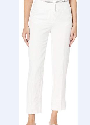 Льняные брюки штаны на подкладке pappagallo размер 4 s-м