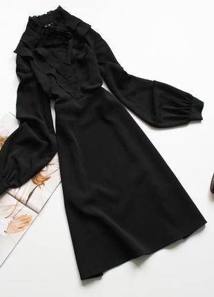 Красивое черное платье рубашка с 8 warehouse
