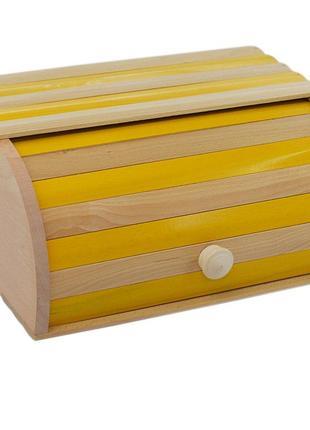 Красива дерев'яна хлібниця