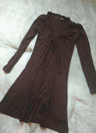 Платье коричневое туника