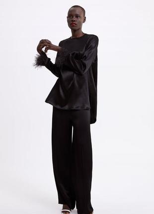 Чёрная рубашка zara