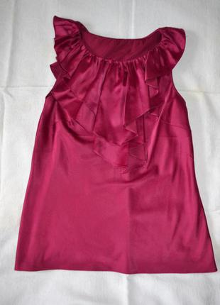 Шикарная блуза с рюшей, свободный крой, с-м