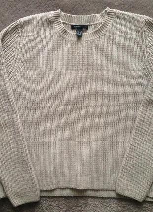 Бежевый свитер mango