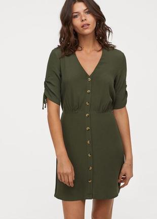 Стильное платье на пуговицах вискоза из новой коллекции