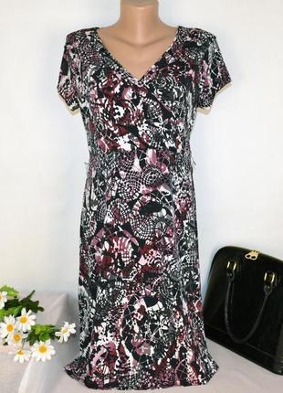 Брендовое нарядное миди платье next шри ланка принт абстракция этикетка