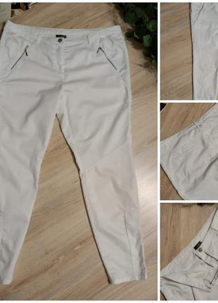Белоснежные хлопковые джинсы скинни узкие