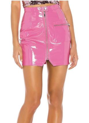 Лаковая юбка missguided кожаная юбка missguided