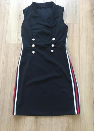Платье -пиджак с коротким рукавом