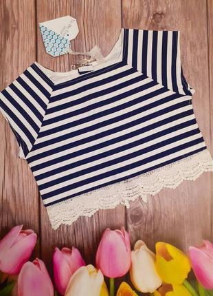 Блузка для девочки128 см (7-8 years) полосатая to be too 55315