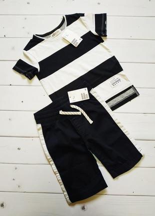 Костюм комплект футболка шорты h&m 92 см 1,5-2 года