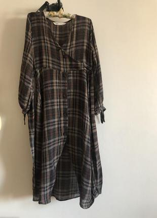 Платье zara вискоза шерсть