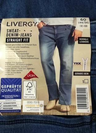 Удобные джинсы 62 euro (46-34) livergy, германия, большой размер