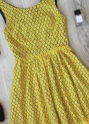 Желтое кружевное платье monteau2 фото