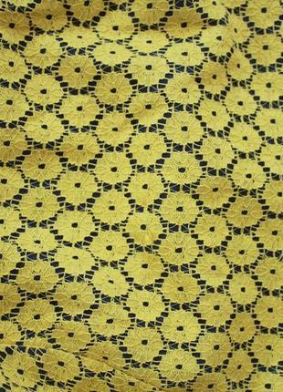 Желтое кружевное платье monteau3 фото