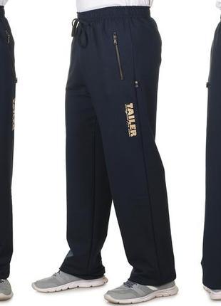 Мужские спортивные штаны из турецкого трикотажа на металлической молнии демисезонные (208)