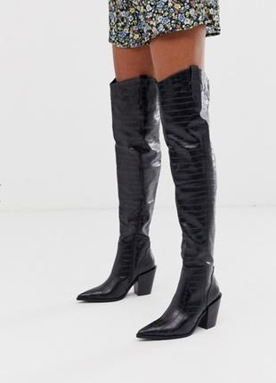 Модные ботфорты ботильоны ботинки казаки asos асос эйсос