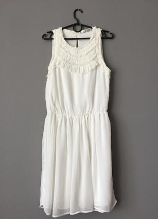 Воздушное шифоновое платье zara s--44 размер.