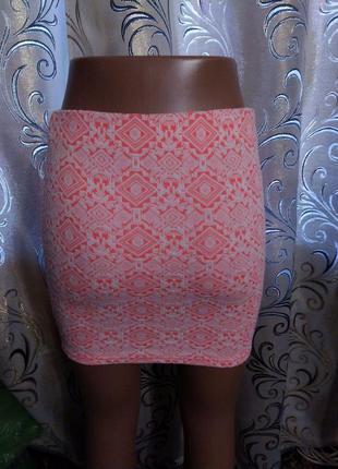 Яркая юбка с геометрическим принтом river island4 фото