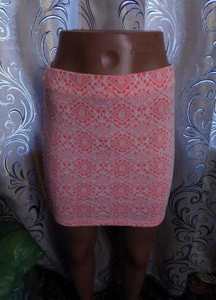 Яркая юбка с геометрическим принтом river island
