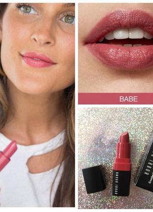 Увлажняющая помада для губ bobbi brown  crushed lip color тон babe розовый нюд