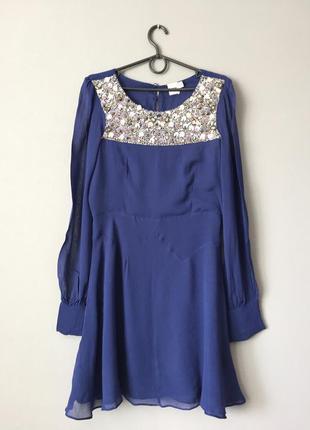 Шифоновое нарядное платье asos 10--44-46 размер.