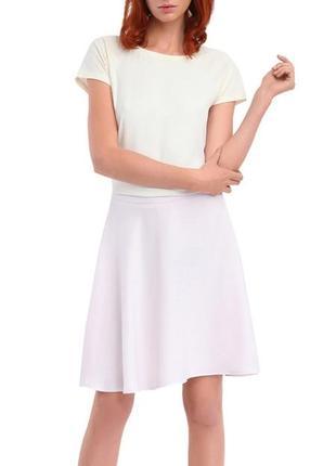 Нежно-розовая шифоновая юбка