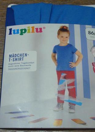Красивая футболка lupilu 1-2 года голубая