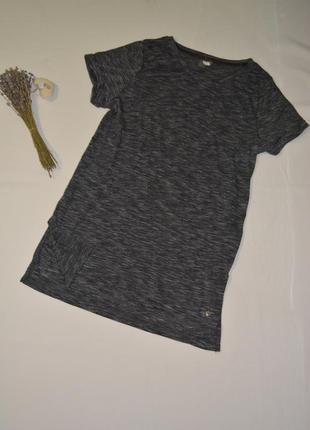 Удлиненная женская футболка для спорта tcm tchibo германия размер s