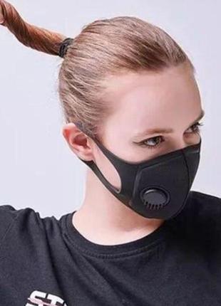 Защитная клапан маска фильтр угольный3 фото