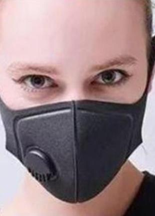Защитная клапан маска фильтр угольный5 фото