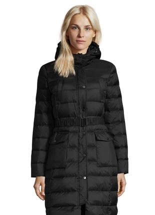 Новый пуховик benetton парка куртка (непромокаемый) длинный с поясом и капюшоном