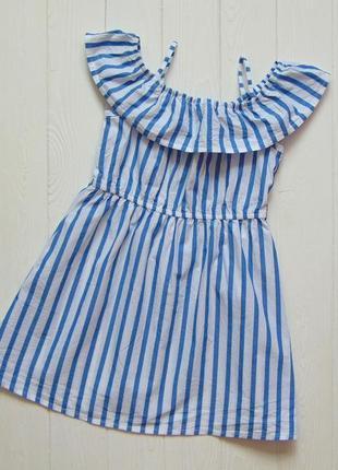 H&m. размер 1.5-2 года. новое трендовое лёгкое платье для девочки