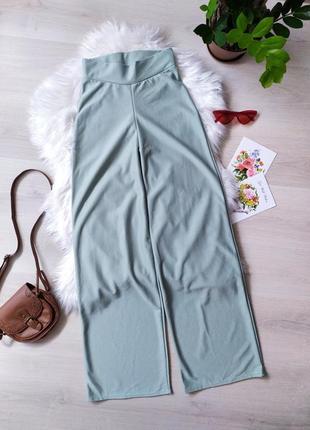 Брюки штани/ фісташкові / прямі / широкі / прямые широкие штаны / с высокой посадкой