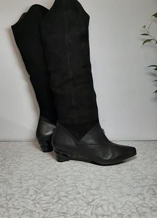 Кожаные +замш сапоги,ботинки think! (синк!)