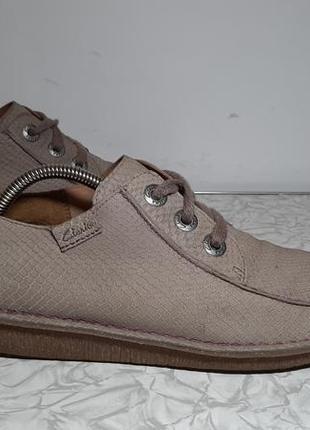 Кожаные ботинки,туфли clarks (кларкс)