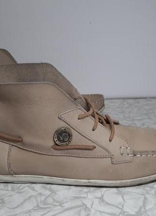 Кожаные сапоги,ботинки napapijri (напапижри)
