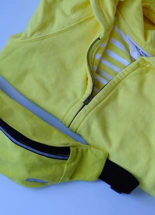 Сумка-бананка джинсовая желтая, поясная сумка, барыжка 41