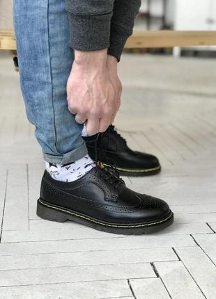 Шикарные мужские туфли dr. martens 1461 low