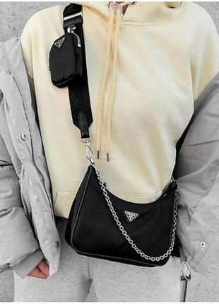 Брендовая сумочка из текстиля 2 в 1 ! новинка