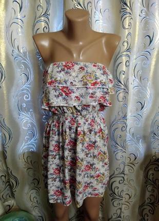 Нежное летнее платье с цветочным принтом rosa