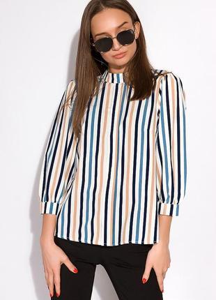 Новая актуальная стильная блузка в трендовую вертикальную полоску