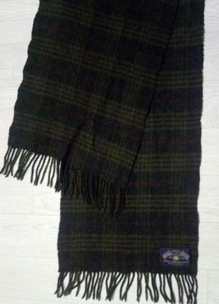Стильный, винтажный шерстяной шарф  gant