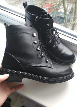 Трендовые массивные грубые ботинки из экокожи в стиле zara