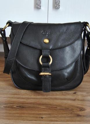 Кожаная сумка кроссбоди gigi / шкіряна сумка
