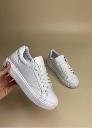 Кеды кожаные люкс качество кеды белые кроссовки белые